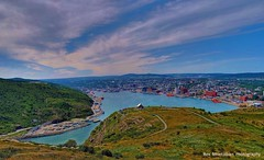 the view from signal hill (Rex Montalban Photography) Tags: newfoundland stjohns crop hdr signalhill photomatix stitchedpanorama rexmontalbanphotography pse9