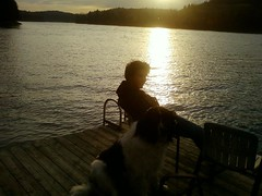 """lad_with_dog_on_dock • <a style=""""font-size:0.8em;"""" href=""""http://www.flickr.com/photos/78554596@N08/7027777145/"""" target=""""_blank"""">View on Flickr</a>"""