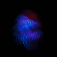 Urban Jellyfish (Birdmanjag) Tags: blue red black art lights experimental powerball lazier