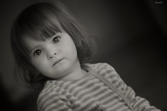 Little girl (Arnaud D...) Tags: portrait blackandwhite baby eye canon eos eyes child noiretblanc oeil yeux enfant regard 70200f28 550d bebe borderfx