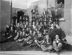 Happy Days (National Library of Ireland on The Commons) Tags: school ireland boys students smiling laughing wednesday ties thirties 1930s may uniforms teachers badges wexford 8th pupils osa blazers crests 1935 glassnegative schooldays newross leinster augustinian hobnailedboots nationallibraryofireland goodcounsel ahpoole orderofstaugustine catholicboyscouts peopleidentified inallthingslove pioneerpin poolecollection arthurhenripoole goodcounselcollege inombibuscaritas thecounsel charlesmuldoon