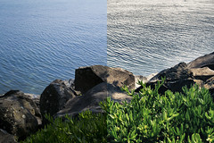Lake Rocks [NOT HDR  HDR] (lorenzoviolone) Tags: life italy plants lake plant rome roma green nature water rock reflex high nikon rocks raw dynamic lakes environment jpg dslr range digitalslr hdr highdynamicrange bracciano nikonraw nikondslr digitalreflex nikonprofessional nikonreflex fileraw d3100 nikond3100 professionaldslr dslrraw shotfolder