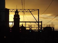 Flinders Street Station 12-5-2012. (MurrayJoe) Tags: station sunrise australia melbourne victoria clocktower railways flindersstreet railwayviaduct signalbridge