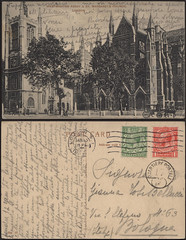 Westminster Abbey & St. Margaret's Church, London (Renato Morselli) Tags: old london church westminster abbey foto postcard chiesa bologna londra antico 1925 cartolina vecchio