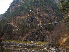 Larja bridge. (everytin irie) Tags: nepal namche everestbasecamp easternregion larjabridge namchevdc