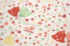 Ring my Bell - Pastel 1 (Miss Honeybird) Tags: flower clock birds bells bell pastel ring spoonflower