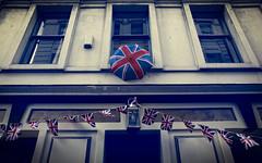 This is England (murphyz) Tags: england london rain umbrella jack britain flag union british bunting londonist