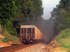 Dust in the Wind (VFR Photography) Tags: railroad train tn adams tennessee railway trains transportation fred end railways hopper railroads ending lateafternoon southbound hoppers csx eot coaldust dustcloud robertsoncounty sadlersville hendersonsubdivision louisvilledivision unitcoaldrag bagbyroad