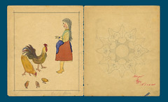Heft 2 Seite 4,5 (altpapiersammler) Tags: school chicken childhood pencil vintage design drawing cook teacher huhn 1900 muster 1886 bleistift malen lehrer hahn kindheit zeichnung 1899 hilchenbach zeichenheft