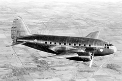 Curtiss C-46 Airliner NX19346 Air to Air (The Aviation Photo Company) Tags: 1930s aviation airliner curtiss c46 propliner curtissc46 nx19346