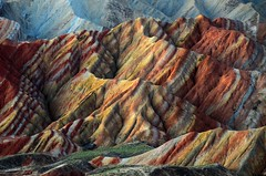 Danxia Landform   (Melinda ^..^) Tags: china color nature colorful mel land layers melinda gansu  landform  danxia    chanmelmel danxialandform