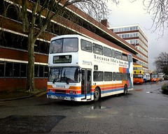 Stagecoach Forest of Dean Volvo Olympian 125 R203DHB in Gloucester 29 Feb 2000 (Mark Bowerbank) Tags: forest volvo 2000 dean gloucester 29 feb stagecoach 125 olympian r203dhb