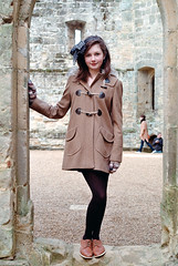 Photo11_7 (PoppyLunaCarter) Tags: blue brown castle girl female grey hoodie coat makeup teen teenager hever brunette headband duffel duffelcoat hevercastle