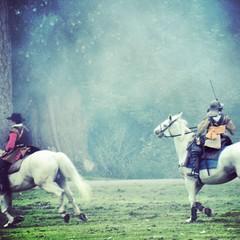 the battle on horse back.... (slightly everything) Tags: uk england horses army one fight whimsy europe battle slightlyeverything katehiscock