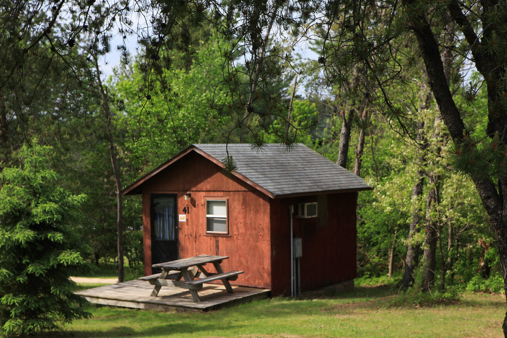 One of three cabins