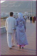 Agadirian chic (mhobl) Tags: man beach women walk sunday agadir morocco promenade mode stroll balade