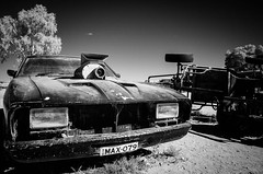 "Mad Max's car at Silverton - infrared with Olympus E-M5 • <a style=""font-size:0.8em;"" href=""http://www.flickr.com/photos/44919156@N00/7260827558/"" target=""_blank"">View on Flickr</a>"