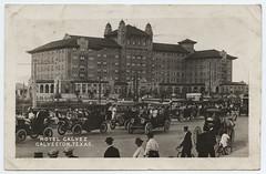 Hotel Galvez, Galveston, Texas (SMU Central University Libraries) Tags: texas hotels automobiles rppc citiesandtowns realphotographicpostcards