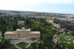 From the Dome of Saint Peter (en_la_bici) Tags: new old city roof sculpture vatican fountain saint museum architecture night john paul photography roman swiss mosaics chapel aerial ceiling staircase ii dome marble guards michelangelo raphael peters bernini cherubs colonnade busts sistine frescoes testament sanzio catican