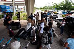 Arrival at Padang airport, Sumatra (Rip Curl) Tags: sumatra indonesia surf surfing mentawais padang roxies macaronis gobleg indiesexplorer ripcurlpromentawai ripcurlmacaronis garutwidiarta