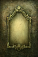 The Mirror (Yaroslav Gerzhedovich) Tags: texture wall painting mirror carved view symbol curves frame swirl ornate baroque mythology cracked