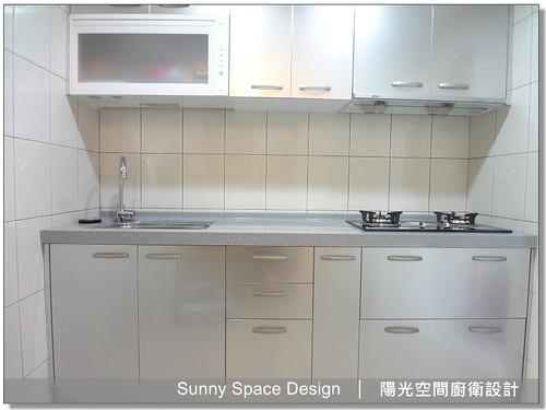 廚具│廚房設計│廚具大王林易延-新莊中誠街洪小姐一字型廚具-陽光空間廚衛設計02