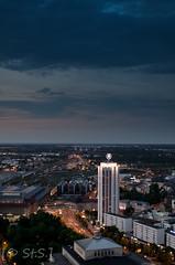 Leipzig @ night (StefanD5) Tags: nacht saxony leipzig sachsen messe langzeitbelichtung uniriese