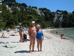 Cala Galdana, Menorca (pj's memories) Tags: beach sunglasses seaside spain briefs sunbathing speedos menorca bulge sunhat calagaldana tanthru kiniki