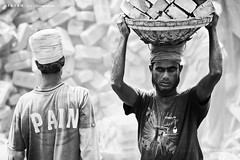 PAIN.... (Z A Y A N) Tags: life portrait people face living pain workers candid lifestyle 300mm civilization conceptual mayday struggle laborday labourday developingcountries nationalgeographic 1stmay internationalworkersday hardship hardworking brickfield zayan livelihood brickworkers brickfieldworker zayan1904