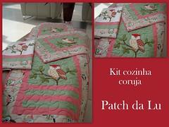 Kit cozinha coruja (Patch da Lu) Tags: kitcozinha toalhafogão trilhodecoruja