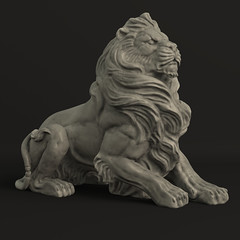 New 3D Asset: Standing Stone Lion (cvbtruong) Tags: sculpture monument animal statue stone architecture standing square asian ma greek 3d model ancient asia king sitting leo maya stonework tomb guard lion bank turbo squid majestic mb squatting zbrush sculpt ztl ztool cvbtruong