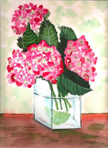 Hydrangea - Original Watercolor
