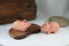 Wooden Toy Pig set (kris10dale) Tags: