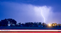 Looking East Lightning Strike (Striking Photography by Bo Insogna) Tags: sky nature weather night clouds landscape colorado energy power longmont awesome extreme boulder nighttime monsoon electricity strike bolts rockymountains lightning lightening storms thunder typhoon stockimages severe thunderstorms discharge thundershower bouldercounty weatherphotography photographyprints jamesboinsogna thelightningman