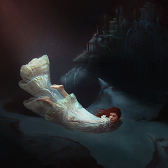 Let Your Dreams Take Flight (melinadesantiago) Tags: ocean old light sea castle fairytale vintage soft glow underwater shadows kingdom palace hidden dreams imagination dreamy magical dreamscape