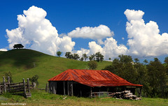 Cumulus Cloud - East Gresford,Hunter Region,NSW (Black Diamond Images) Tags: road clouds countryside shed australia cumulus nsw oldbarn gresford cumulusclouds hunterregion australianlandscapes blackdiamondimages eastgresford