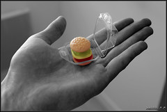 Day 147 Mini hamburger (BA Hugo) Tags: bw black sweet hamburger day147 366 desat bahugo mathieulc