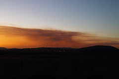 Fires and Smoke (blachswan) Tags: sunset clouds smoke australia victoria fires windfarm windtowers stubbleburning lakeburrumbeet waubrawindfarm