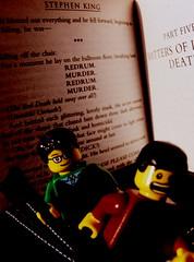Stephen King: REUM Test (Pickman's Paintbrush) Tags: macro book lego books writers writer minifigs stephenking authors testshot legography legoauthor legoauthors legowriters legowriter