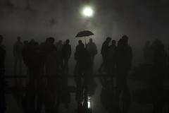 The fog (Bernard Chevalier) Tags: paris fog silhouettes pluie reflets brouillard ville parapluie urbain