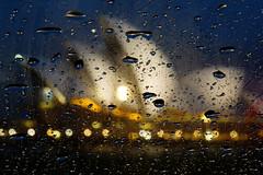 Rainy Day (Kokkai Ng) Tags: house storm water car rain night dark droplets drops opera bokeh dusk sydney australia illuminated rainy newsouthwales windscreen sydneyoperahouse