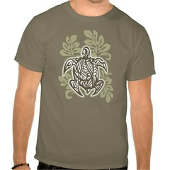 Tribal Turtle Tee Shirt (shaire productions) Tags: art shop retail shirt print store artwork artist image turtle earth picture style tshirt tribal creation hawaiian merchandise tiki tee apparel imagery polynesian zazzle pacificislander sherriethai shaireproductions