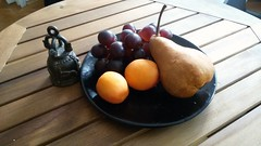 still life with fruit (nicolae_andrei_popa) Tags: life fruit table still afternoon desert bell bowl pear apricot grape