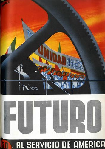 Portada de Josep Renau Berenguer para la Revista Futuro (agosto de 1945)