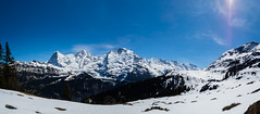 Eiger-Mnch-Jungfrau-Panorama (Steffen Knalltte) Tags: alps schweiz switzerland olympus berge alpen lauterbrunnen eiger omd jungfrau mnch berneroberland em5markii