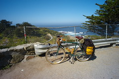 My Bike, south of Carmel (Campy Only) Tags: california bicycling coast ride bigsur hwy1