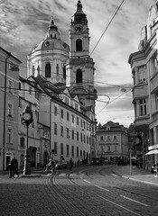 Prague (murtica27) Tags: street city travel white black monochrome town europa europe republic czech prague sony country capital hauptstadt prag praha tschechien stadt alpha bohemia schwarz moldova moldau evropa weis streetfotographie