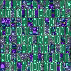 Quantum Motherboard (Susan Maxwell Schmidt) Tags: blue original abstract black green art geometric modern digital computer hardware aqua technology purple postmodern geek tech turquoise contemporary circles bubbles science polkadots intel future round math computing processing physics mathematics geometrical cpu motherboard dots circuit spheres globes quantumcomputing futuristic processor quantum circuitboard internal cobalt rectangular quantumphysics quantummechanics quantumcomputer greenabstract greencontemporary susanmaxwellschmidt greenmodern quantumprocessing quantummotherboard