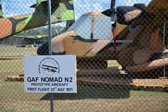 DSC_0909 (LoxPix2) Tags: clouds vintage landscape airport aircraft australia queensland nomad caribou oakey loxpix australianarmyflyingmuseum