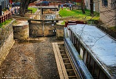 An 1800s Canal Boat and Lock Gates on the C&O Canal In Georgetown (PhotosToArtByMike) Tags: washingtondc dc washington georgetown locks barge lockgates canalboat cocanal westernmaryland chesapeakeandohiocanal nationscapital